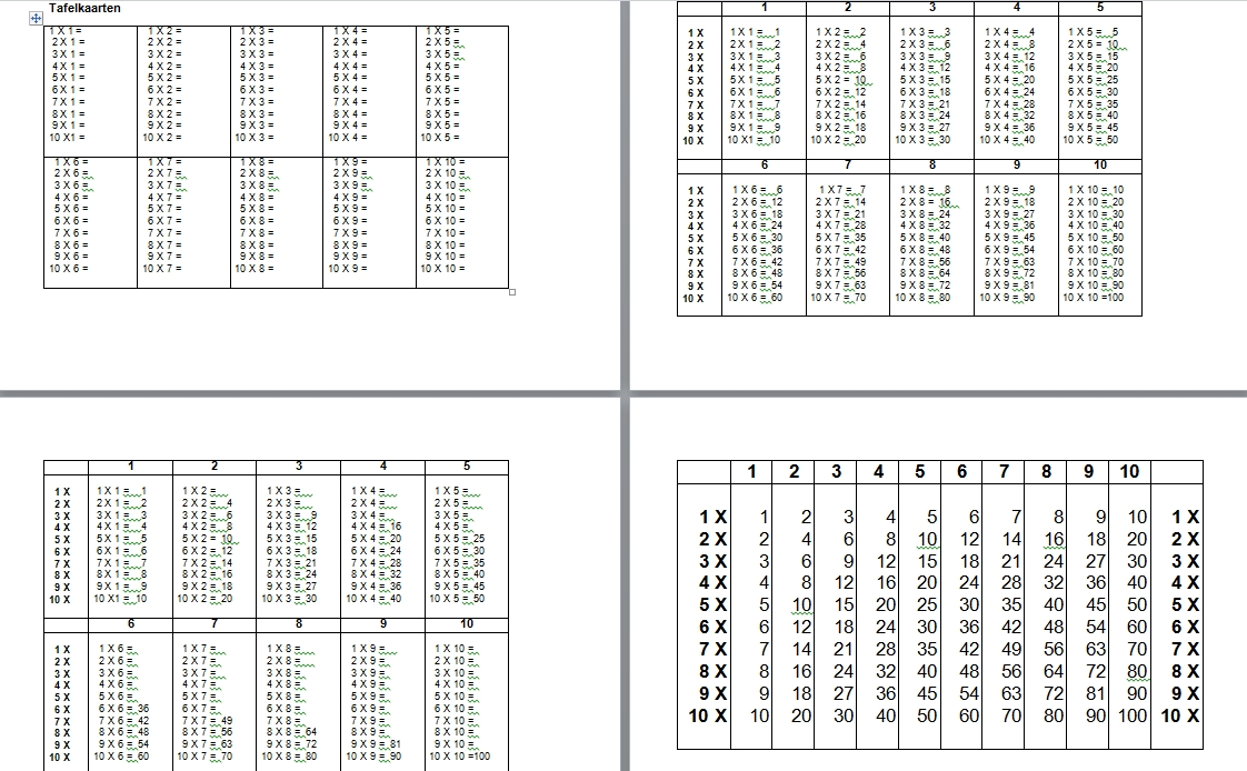 Tafelkaarten digitaal kleur rijk leren for Tafels met antwoorden
